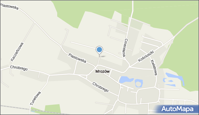 Mrozów, Różana, mapa Mrozów