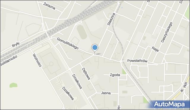 Pruszków, Rondo Popiełuszki Jerzego, bł. ks., mapa Pruszków