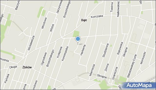 Pruszków, Rozbrat, mapa Pruszków