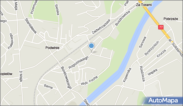 Przemyśl, Rogozińskiego Stefana, mapa Przemyśla
