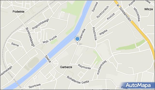 Przemyśl, Rondo Ofiar Wołynia, mapa Przemyśla