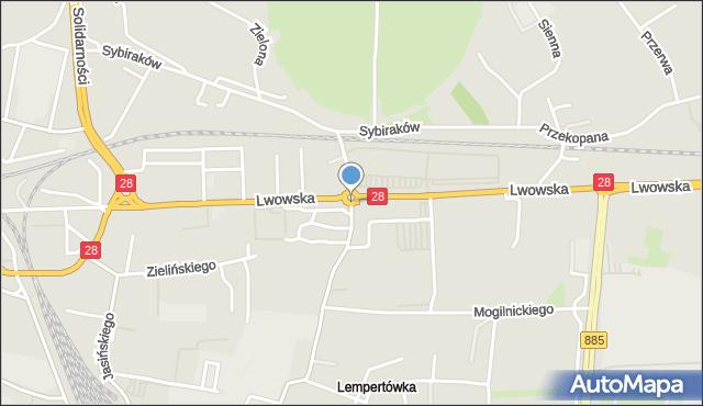 Przemyśl, Rondo Paderborn, mapa Przemyśla