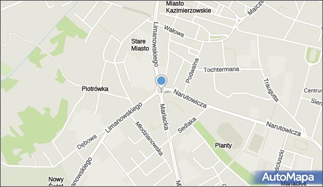 Radom, Rondo Kisielewskiego Stefana, mapa Radomia