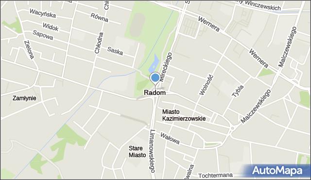 Radom, Rondo Kotlarza Romana, ks., mapa Radomia