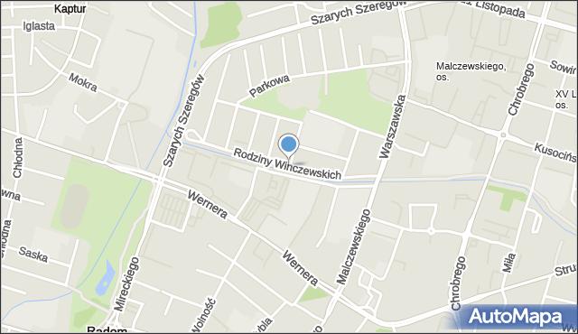 Radom, Rodziny Winczewskich, mapa Radomia