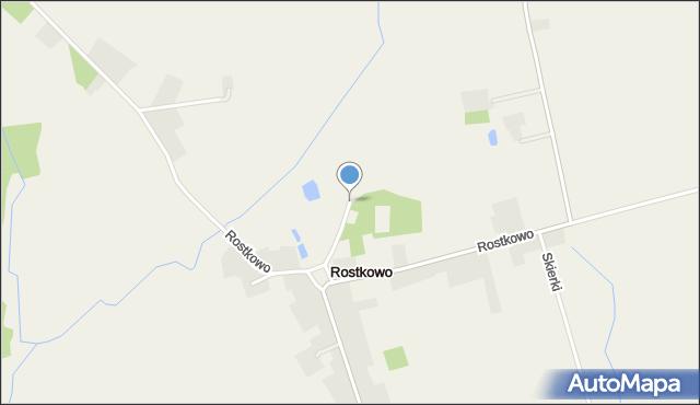 Rostkowo gmina Czernice Borowe, Rostkowo, mapa Rostkowo gmina Czernice Borowe