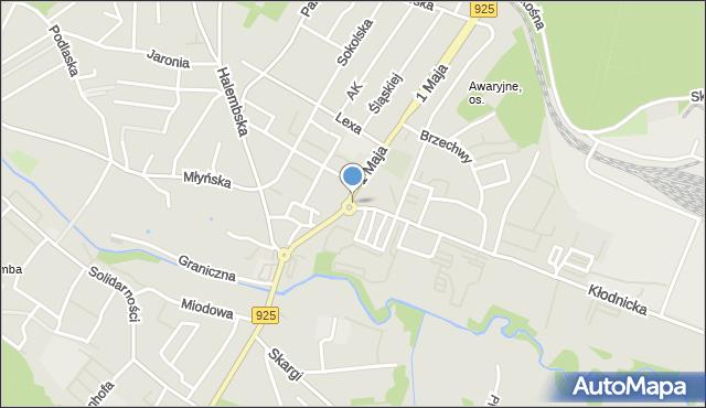 Ruda Śląska, Rondo Solidarności, mapa Rudy Śląskiej