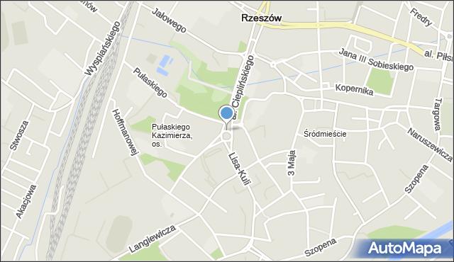 Rzeszów, Rondo Pakosława, mapa Rzeszów