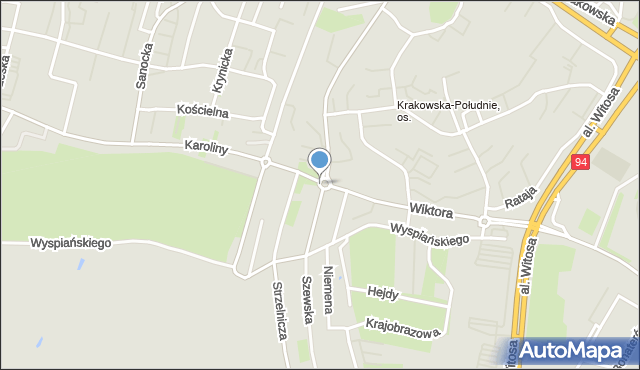 Rzeszów, Rondo Pileckiego Witolda, rtm., mapa Rzeszów