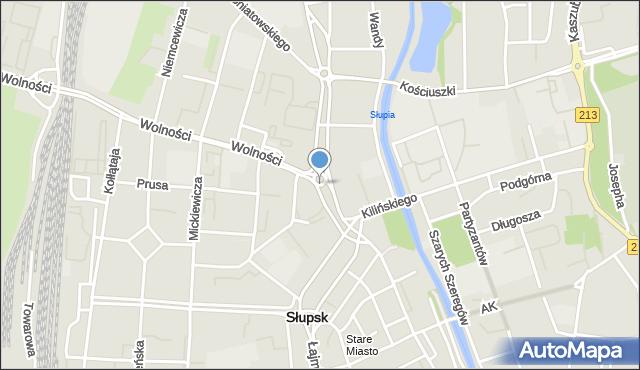 Słupsk, Rondo Inwalidów Wojennych RP, mapa Słupska