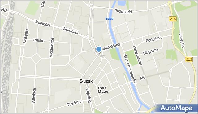 Słupsk, Rondo Staromiejskie, mapa Słupska
