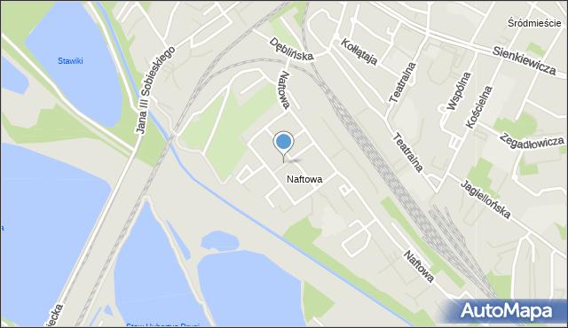 Sosnowiec, Różana, mapa Sosnowca