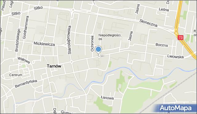 Tarnów, Rondo Dagnanów, mapa Tarnów