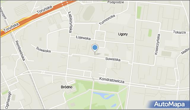 Warszawa, Rohatyńska, mapa Warszawy