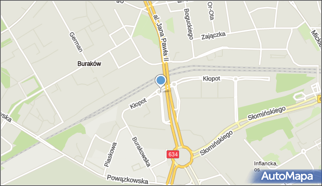 Warszawa, Rondo Himilsbacha, mapa Warszawy