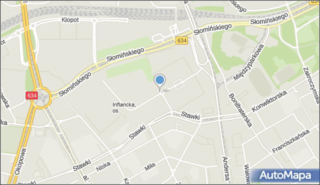 Warszawa, Rondo Mackiewicza Józefa, mapa Warszawy