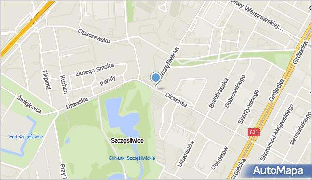 Warszawa, Rondo Pniewskiego Bohdana, mapa Warszawy