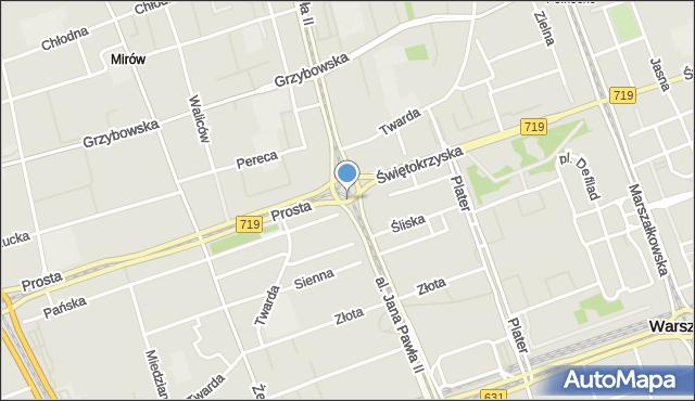 Warszawa, Rondo Organizacji Narodów Zjednoczonych, mapa Warszawy