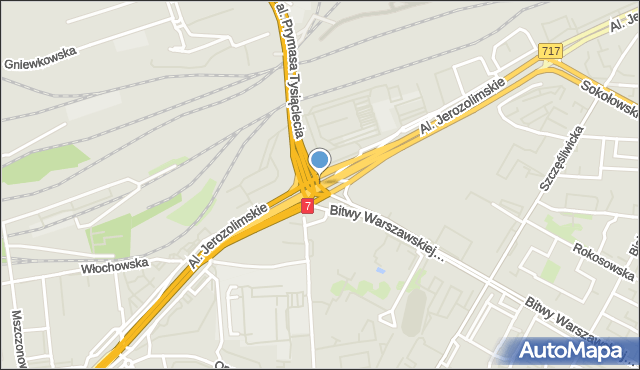 Warszawa, Rondo Zesłańców Syberyjskich, mapa Warszawy