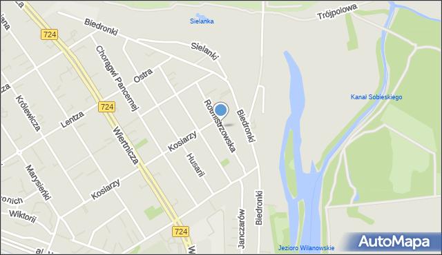 Warszawa, Rotmistrzowska, mapa Warszawy