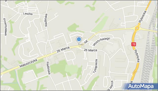 Wodzisław Śląski, Rondo Sallaumines, mapa Wodzisławia Śląskiego