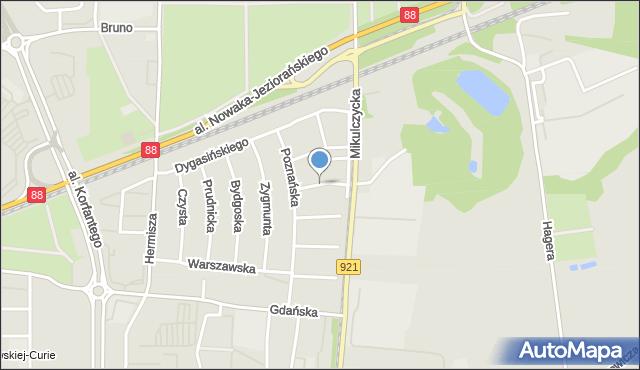 Zabrze, Rochowiaka Stanisława, mapa Zabrza