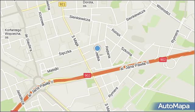 Zabrze, Rostka Józefa, mapa Zabrza