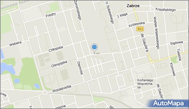 Zabrze, Różańskiego Bolesława, dr., mapa Zabrza