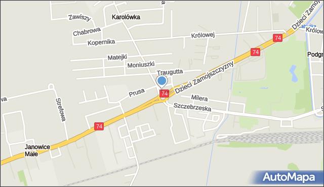 Zamość, Rondo NSZZ Solidarność, mapa Zamościa
