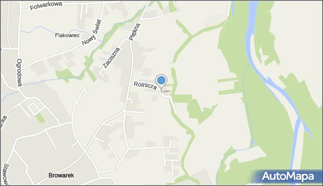 Zasole Bielańskie, Rolnicza, mapa Zasole Bielańskie