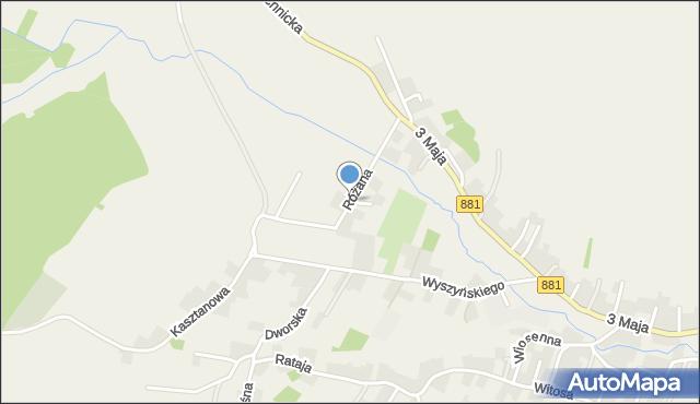 Żurawica powiat przemyski, Różana, mapa Żurawica powiat przemyski