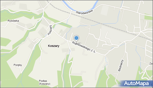 Limanowa, Rupniowskiego Joachima Łukasza, mapa Limanowa