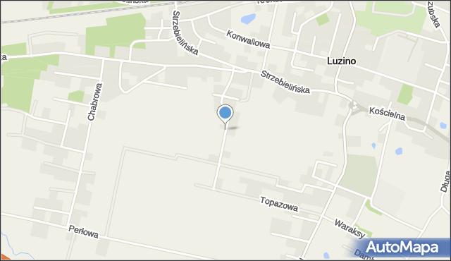 Luzino, Rumiankowa, mapa Luzino