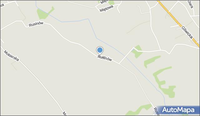 Mikołów, Rusinów, mapa Mikołów