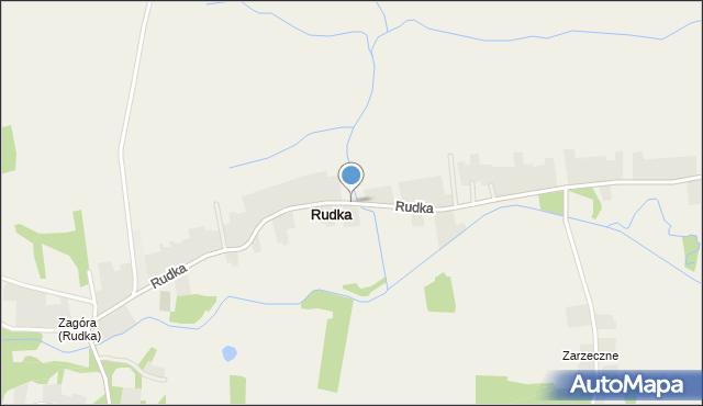Rudka gmina Sieniawa, Rudka, mapa Rudka gmina Sieniawa