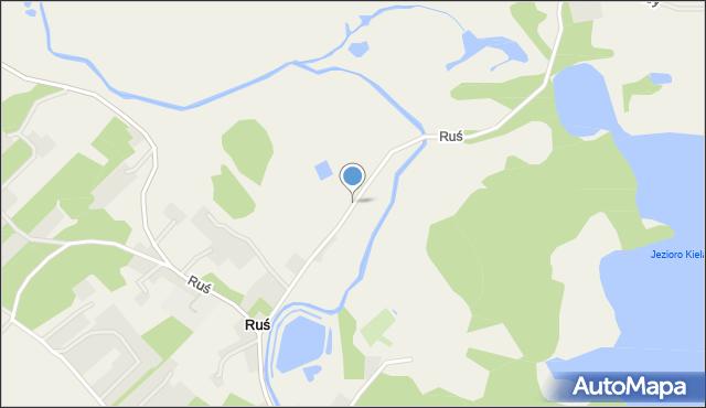 Ruś gmina Stawiguda, Ruś, mapa Ruś gmina Stawiguda