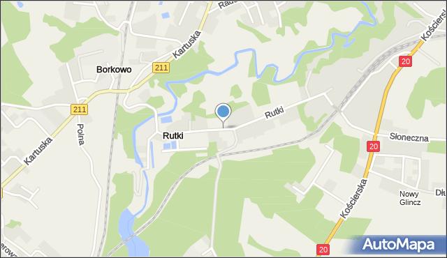 Rutki gmina Żukowo, Rutki, mapa Rutki gmina Żukowo