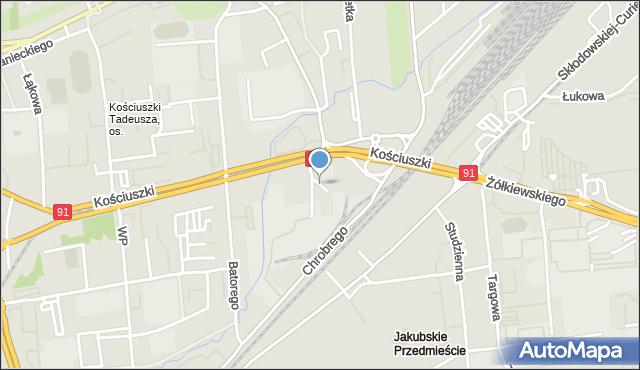 Toruń, Rubinkowskiego Jakuba, mapa Torunia