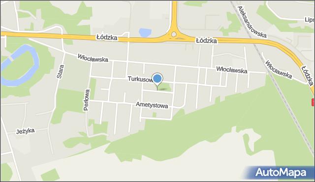 Toruń, Rubinowa, mapa Torunia