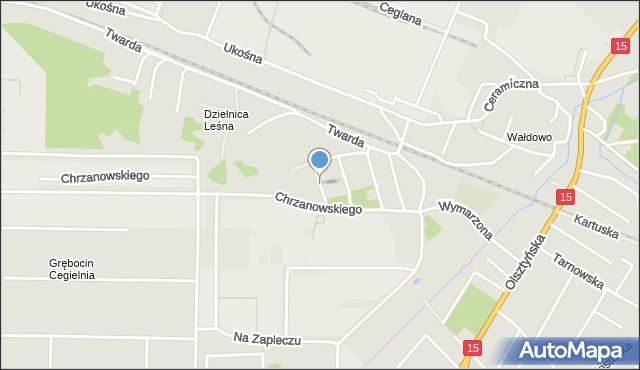 Toruń, Rudego, mapa Torunia