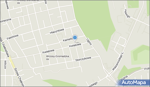 Toruń, Rumiankowa, mapa Torunia