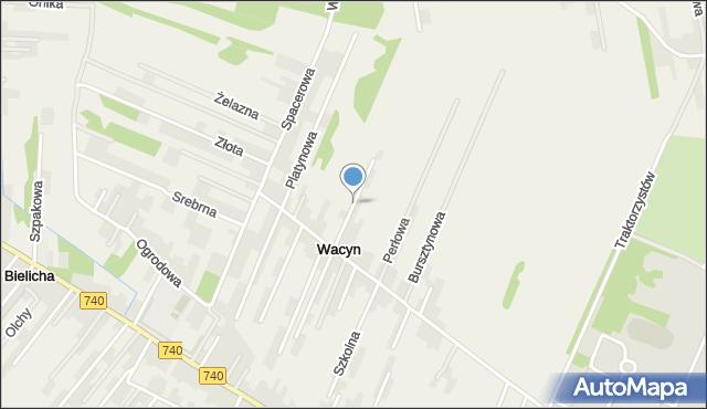 Wacyn, Rubinowa, mapa Wacyn