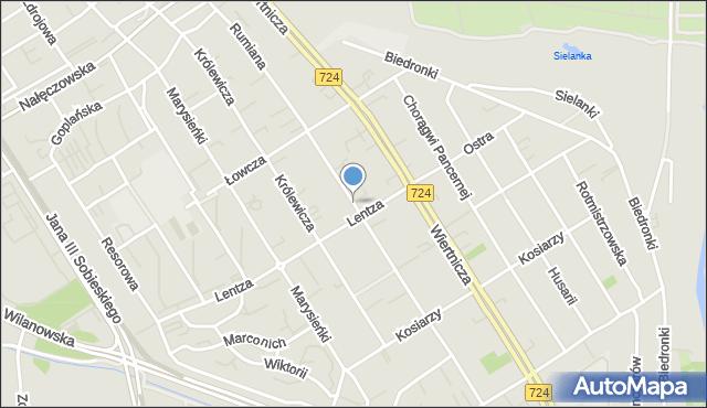 Warszawa, Rumiana, mapa Warszawy
