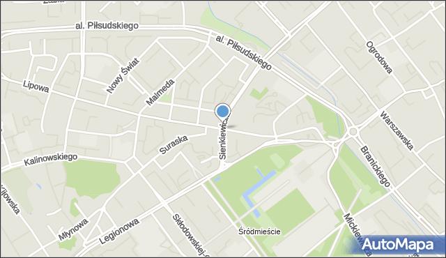 Białystok, Rynek Kościuszki Tadeusza, gen., mapa Białegostoku