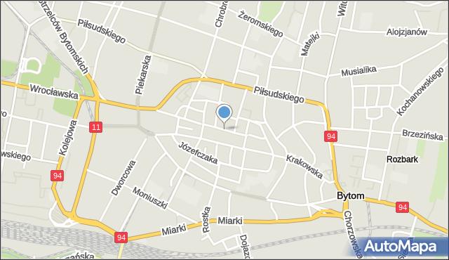 Bytom, Rynek, mapa Bytomia