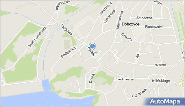 Dobczyce, Rynek, mapa Dobczyce