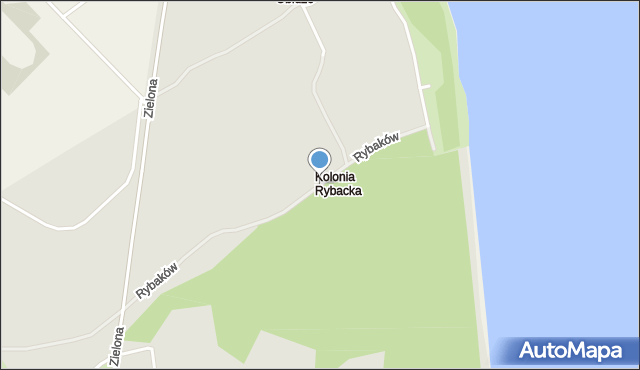 Gdynia, Rybaków, mapa Gdyni