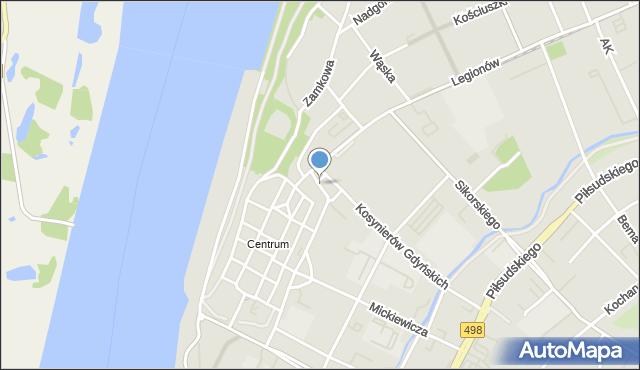 Grudziądz, Rybny Rynek, mapa Grudziądza