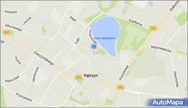 Kętrzyn, Rybna, mapa Kętrzyn