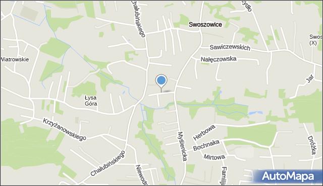 Kraków, Rymanowska, mapa Krakowa